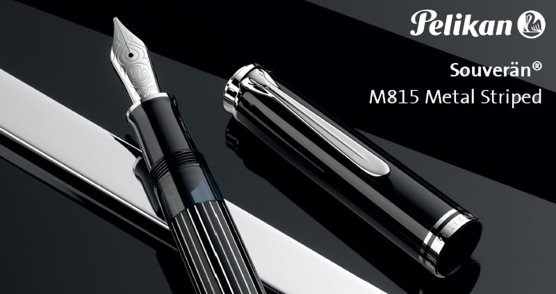 Pelikan Souverän M815 Metal Striped Special Edition