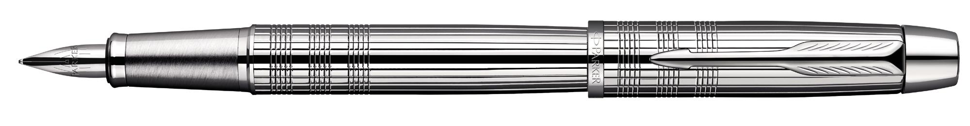 Parker IM Premium Shiny Chrome Chiselled Vulpen