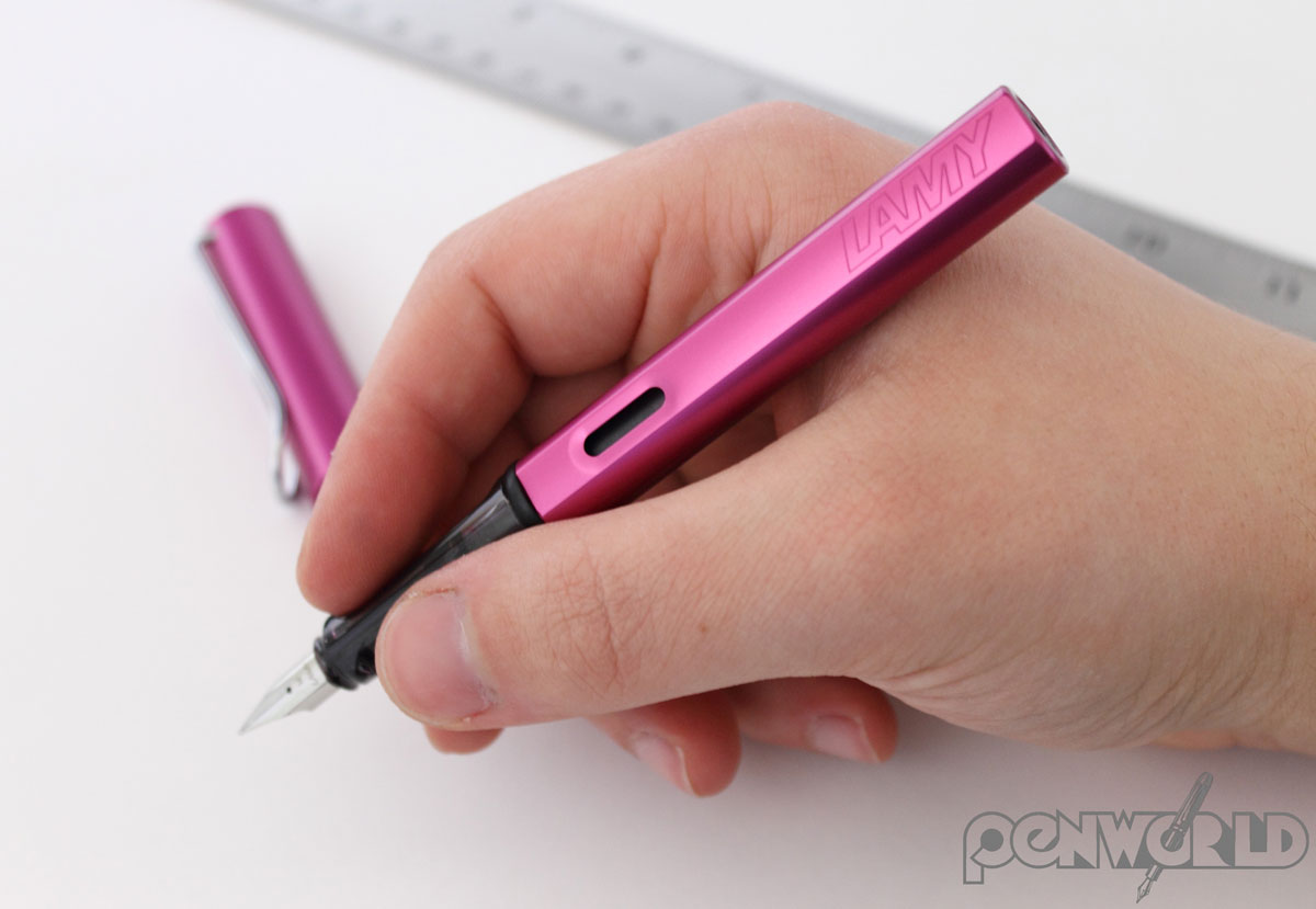 Lamy Vibrant Pink in hand