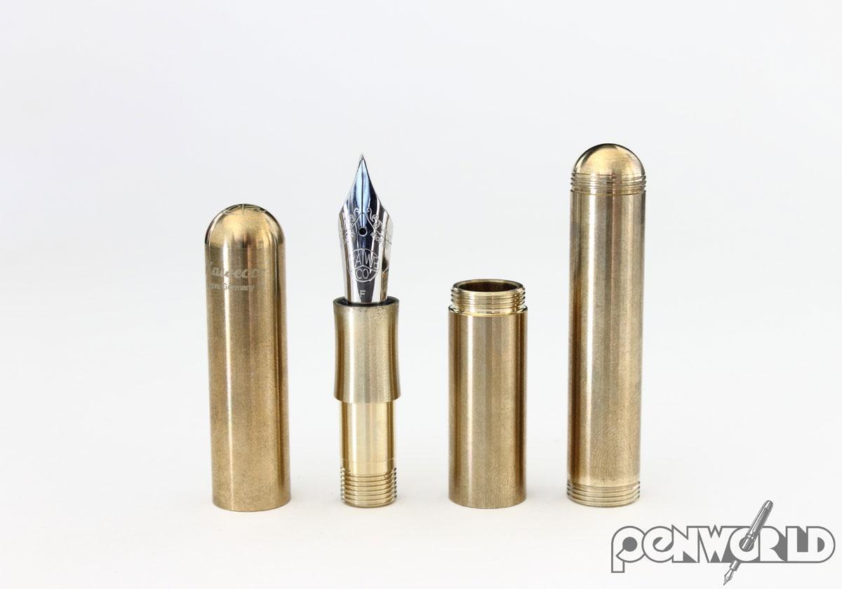 Kaweco Supra Brass Fountain Pen Open
