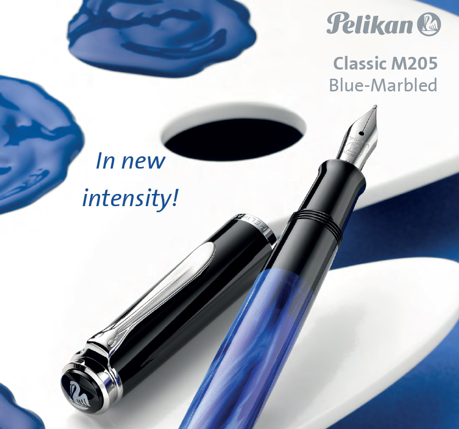 Pelikan M205 Blue Marbled