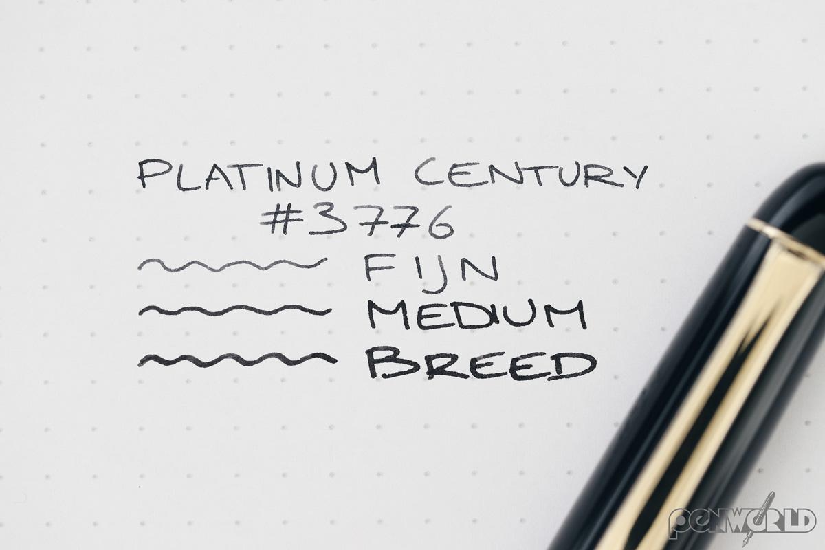 Platinum 3776 schrijfbreedte