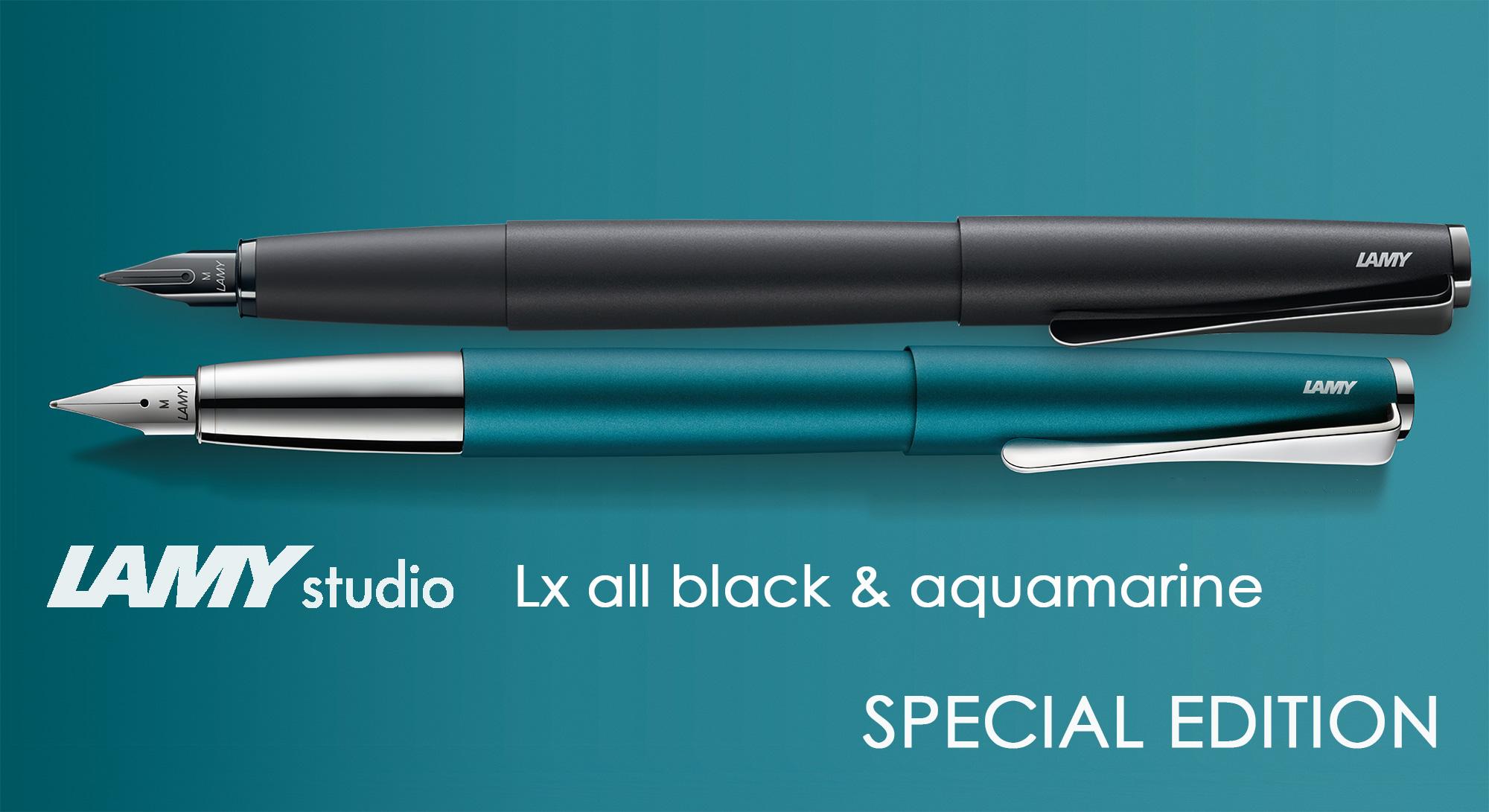 Lamy Studio Aquamarine and Lx All Black