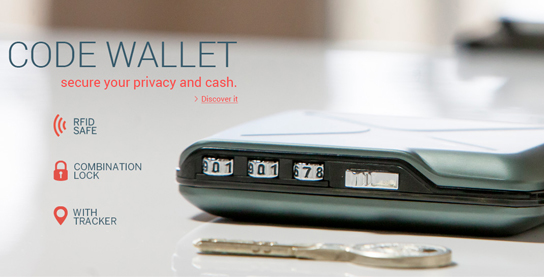 Ogon Mini Safe Code Wallet